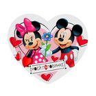 """Открытка-валентинка """"Моей половинке"""" Микки Маус, 7х6см"""
