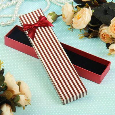 Подарочная коробочка под браслет/цепочку/часы «Полоски», 21 х 4 х 2 см, цвет МИК