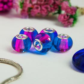 Бусинка 'Леденец', цвет сине-розовый Ош