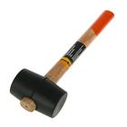 Киянка резиновая Sparta, 225 г, черная резина, деревянная рукоятка