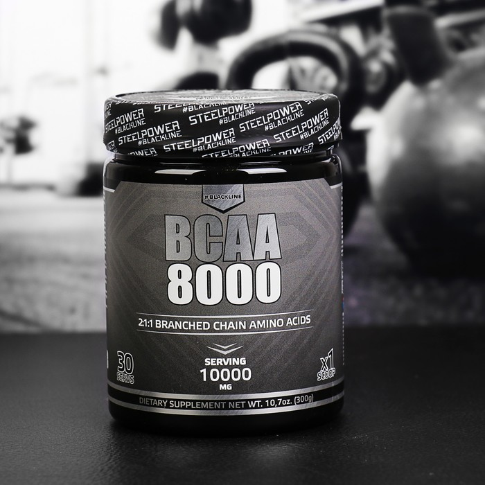 Аминокислоты ВСАА 8000 SteelPower Nutrition, лесные ягоды, 300 г