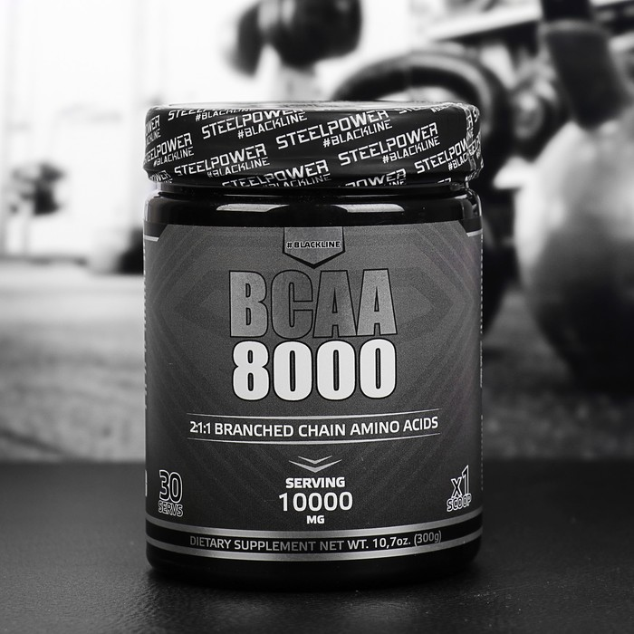 Аминокислоты ВСАА 8000 SteelPower Nutrition, тропик микс, 300 г