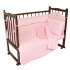 Комплект в кроватку (5 предметов), цвет розовый 27