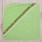 Полотенце-уголок для купания, размер 80х80 см, цвет зелёный М.704