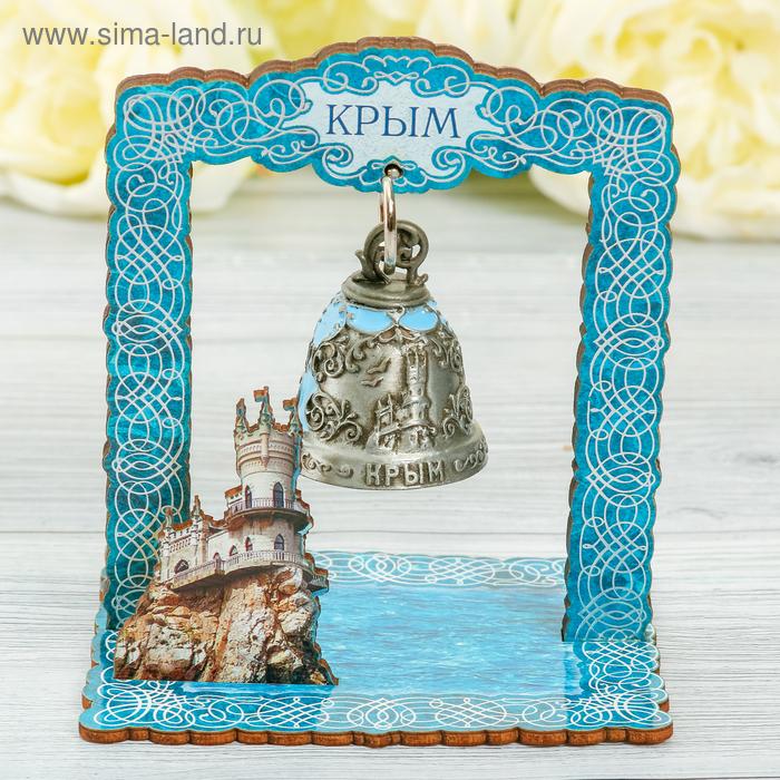 Колокольчик в деревянной рамке «Крым»
