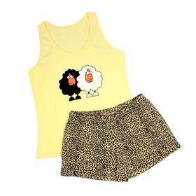 Пижама женская  (майка,шорты) PT021502 МИКС, р-р 46