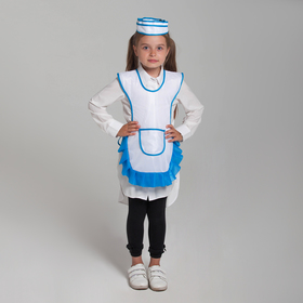 Детский карнавальный костюм 'Девочка-продавец', пилотка, фартук, 4-6 лет, рост 110-122 см Ош