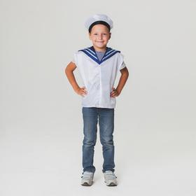 Детский карнавальный костюм 'Моряк', жилет, бескозырка, 4-6 лет, рост 110-122 см Ош