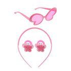 "Набор для девочки ""Бабочка"", 4 предмета: очки, ободок, 2 резинки"