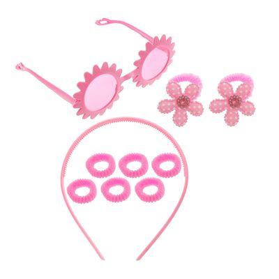 "Набор для девочки ""Цветок"", 10 предметов: очки, ободок, 8 резинок"