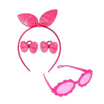 """Набор для девочки """"Очаровашка"""", 4 предмета: очки, ободок, 2 резинки"""