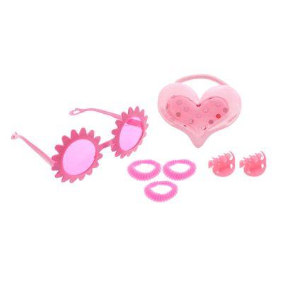 "Набор для девочки ""Милашка"", 7 предметов: очки, 4 резинки, 2 крабика"