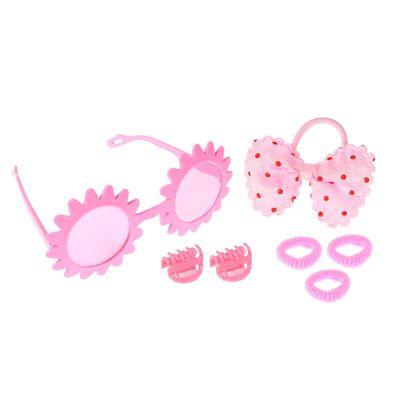 "Набор для девочки ""Солнышко"", 7 предметов: очки, 4 резинки, 2 крабика"