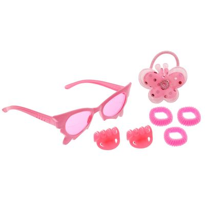 "Набор для девочки ""Красотка"", 7 предметов: очки, 4 резинки, 2 крабика"