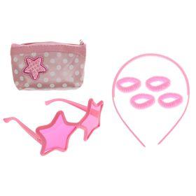 """Набор для девочки """"Звёздочка"""", 7 предметов: очки, ободок, сумка, 4 резинки"""