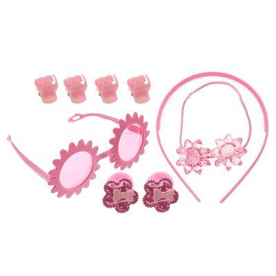 """Набор для девочки """"Цветочек"""", 9 предметов: очки, ободок, 3 резинки, 4 краба"""