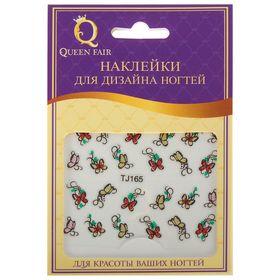 """Наклейки для ногтей """"Бабочки"""", с блёстками, цвета МИКС"""