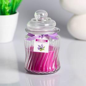 """Свеча в стекле """"Горшочек"""" ароматическая 11х6см , запах: лаванда"""