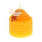 Свеча из вощины 3,5х4,5см, оранжевая