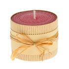 Свеча из вощины 6х5см, розовая