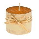 Свеча из вощины 6х5см, оранжевая