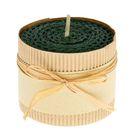 Свеча из вощины 6х5см, зелёная