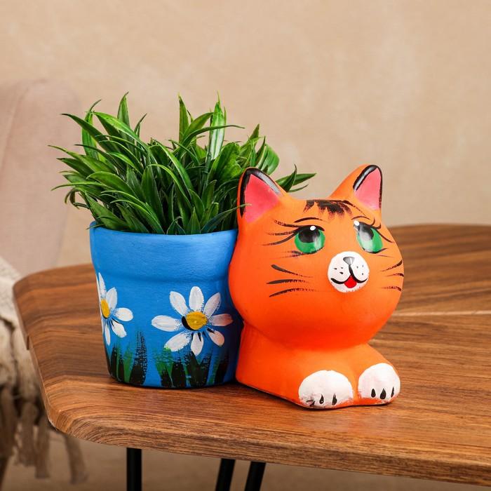 """Горшок для цветов """"Котенок"""" 12 см"""