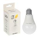 Светодиодная лампа Geniled E27, А60, 7 Вт, 2700 К, теплый белый
