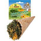 Лакомство JR FARM   для грызунов, травы ассорти в вафельном рожке, 60г