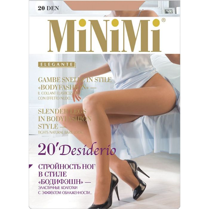 Колготки MiNiMi, Desiderio 20 Nudo (100/10), размер 2, caramello
