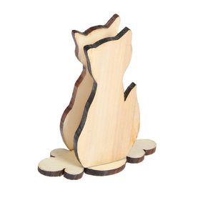 """Салфетница деревянная """"Кошка"""""""