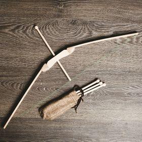 Сувенир деревянный 'Лук и 4 стрелы', 70 см Ош
