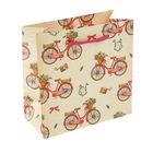 """Пакет подарочный """"Велосипед"""" 16 х 7,6 х 16 см"""