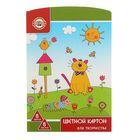 Картон цветной А4, 8 листов, 8 цветов, Koh-I-Noor 210 г/м2, ламинированный FK-KIN-7408