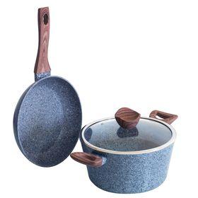 Набор посуды Forest Line, 3 предмета, сковорода, кастрюля, крышка