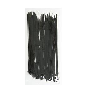 Хомут-стяжки пластиковые, 2.5х200 мм, чёрные, упаковка 100 шт.