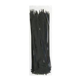 Хомут-стяжки пластиковые, 3.6х300 мм, чёрные, упаковка 100 шт.