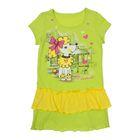 Платье для девочки, рост 98 см, цвет лайм/лимонный Л606