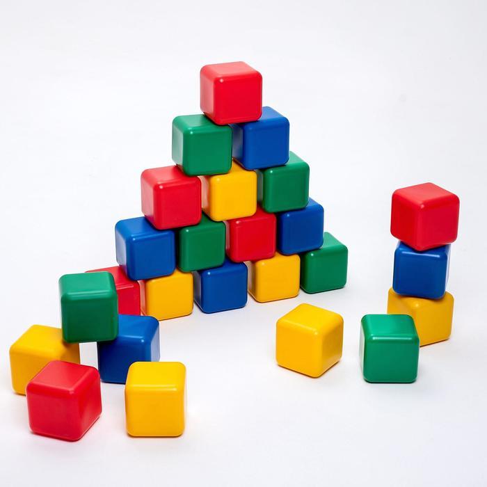 Набор цветных кубиков, 25 штук 12 × 12 см
