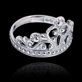 """Кольцо """"Корона"""" принцессы, посеребрение с оксидированием, 18,5 р-р"""