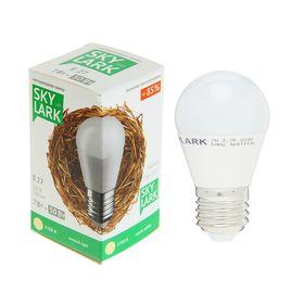 Лампа светодиодная Sky Lark, E27, G45, 7 Вт, 2700 K, теплый белый