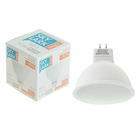 Лампа светодиодная Sky Lark Simple, GU5.3, MR16, 7 Вт, 3000 K, теплый белый