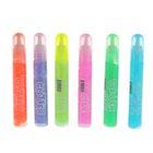 Гель с блестками полупрозрачный 6 цветов по 10 мл, дисплей, МИКС