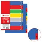 Разделитель пластиковый А4+, 7 листов, по дням Пн-Вс, оглавление, цветной