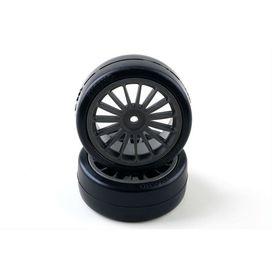 Колёса в сборе, 2 шт. Drift Tire Front (14-Spoke/Black) Ош