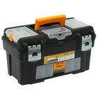 """Ящик для инструментов 18' """"Гефест"""" с консолью и коробками, цвет черный"""
