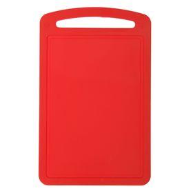 Доска разделочная 27,5х17,3 см, цвет красный