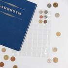 Лист для монет Оптима 200*250 мм на 88 ячеек 21х21 мм