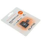 Флеш карта MicroSDHC Qumo, 4 GB, Сlass 6, с адаптером SD