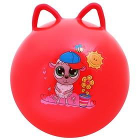 Мяч попрыгун с ушками d=45 см, 380 гр, цвета микс